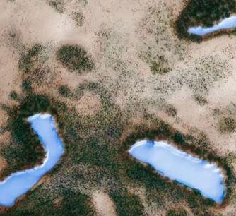 """Trei lacuri albastre şi păduri verzi au fost surprinse pe NASA pe Marte! Dar ele au fost mascate cu Photoshop, pentru ca omenirea să nu cunoască adevărul despre """"planeta roşie""""! Însă totul a fost dezvăluit..."""