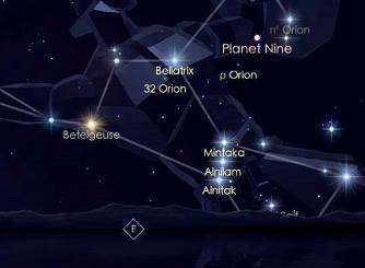 planeta X Google Sky