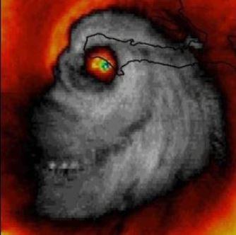 Uriaşul uragan Matthew, care devastează zilele acestea Statele Unite, are forma înfricoşătoare a unui craniu de om! Ce se întâmplă?