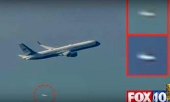 Extratereştrii îl escortează pe noul preşedinte ales, Donald Trump, în timp ce acesta se afla în avionul prezidenţial