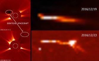 NASA a fotografiat lângă Soare un obiect spaţial uriaş: o fi vorba cumva de nava spaţială gigantică Andromeda, proiectată în secret de nazişti în timpul celui de-al doilea război mondial?