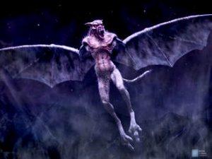 Patru poliţişti americani din New York au observat o creatură demonică cu aripi care îi ataca