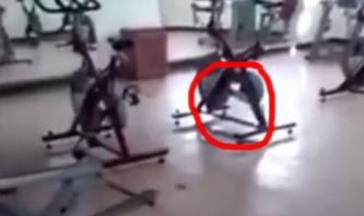 O bicicletă dintr-o sală de gimnastică din Mexic se mişcă singură... cine o face?