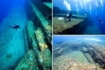 Scafandrii au descoperit un monument vechi de 10.000 de ani, sub Marea Japoniei - dovada că o veche civilizaţie s-a scufundat în adâncurile Oceanului Pacific...