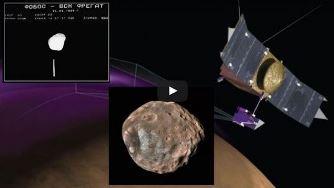 EXCLUSIV! Misterul satelitului planetei Marte, Phobos, se adânceşte, după ce NASA a evitat în extremis o ciocnire cu acesta