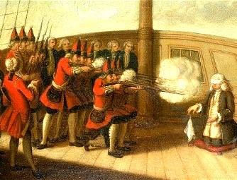 În Marea Britanie e bine din când în când să mai ucizi câte un amiral! Incredibila istorie a execuţiei amiralului Byng