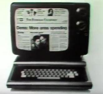 """Incredibil cum arăta """"Internetul primitiv"""" în anul 1981! Aşteptai 6 ore ca să citeşti un ziar şi plăteai 30 de dolari pentru asta!"""