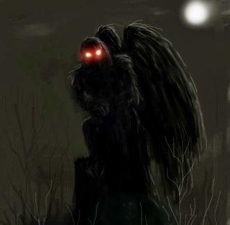 """""""Am văzut o creatură mare, asemănătoare unui liliac, pe un stâlp stradal. Avea nişte ochi roşii strălucitori..."""""""