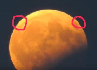 În timpul eclipsei parţiale de Lună de pe 7 august 2017 s-au observat piramide gigantice pe Lună!?