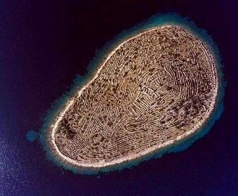 Această insulă din Croaţia arată asemenea unei amprente gigantice