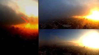 O anomalie necunoscută poate fi văzută în apropierea unui răsărit de Soare din Mexic