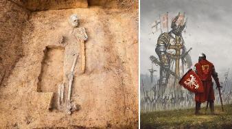 Mormântul unui războinic-gigant a fost descoperit în Germania