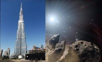 """Un asteroid """"potenţial periculos"""" pentru Pământ, mai mare decât cea mai înaltă clădire din lume - Burj Khalifa -, ne vizitează pe 4 februarie 2018"""