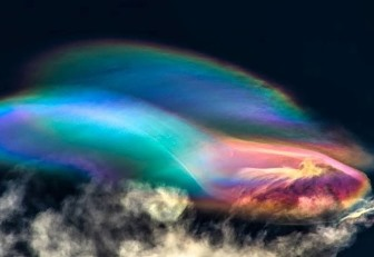 Uimitor! Nori stratosferici polari deasupra Perului care seamănă cu nave spaţiale extraterestre