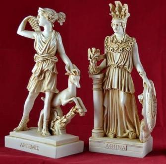 O descoperire extraordinară în Grecia: statuile de bronz ale două zeiţe mitologice