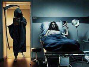 """Într-un spital din America a fost surprinsă """"Moartea"""" sau o creatură demonică! Ea se plimba în voie deasupra patului unui pacient, care muri câteva ore mai târziu!"""