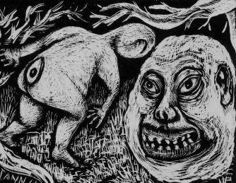 """Întâlnirea unui profesor din Japonia cu o bizară creatură populară -""""shirime"""". Se spune că aceasta ar avea braţe foarte lungi şi un ochi în spate..."""