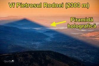 """O """"piramidă holografică"""" incredibilă a fost fotografiată din Vârful Pietrosul Rodnei (2303 metri)! Ce secrete ezoterice ascund munţii noştri?"""