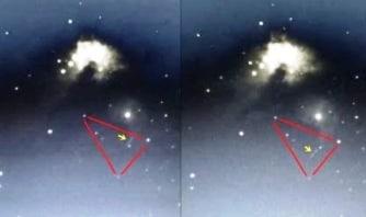 O navă extraterestră interstelară gigantică a fost observată lângă Nebuloasa Orionului