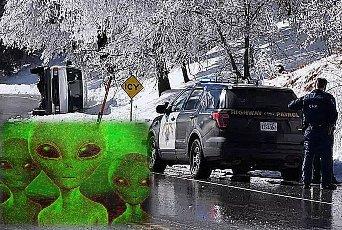 Extratereştrii sunt de vină pentru un accident de maşină bizar din SUA?