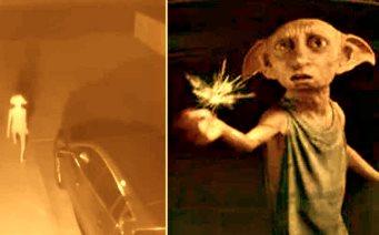 """Ce naiba o fi? Pe o cameră de supraveghere a fost surprinsă o creatură misterioasă, ce seamănă cu Dobby din """"Harry Potter"""""""