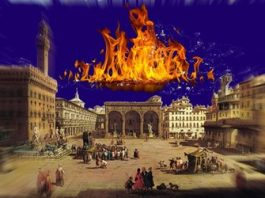 Panică în Florenţa (Italia): pâcla de foc misterioasă de pe cerul nopţii. Ce-a fost cu adevărat?