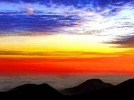 De Ziua Naţională, de 1 decembrie 2019, Dumnezeu ne-a pictat tricolorul deasupra Bucegilor!