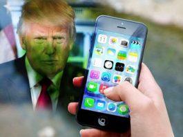 """Trump cere companiei Apple să instaleze """"backdoor""""-uri pe telefoanele lor pentru ca autorităţile să-i poată spiona pe utilizatorii rău intenţionaţi"""