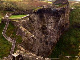 Castelul Tintagel şi două legende celebre: regele Arthur şi Tristan - Isolda