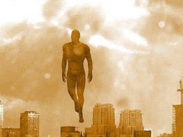 """A fost realizat vreodată un studiu despre """"omul zburător ce foloseşte un câmp de forţă""""? O adnotare bizară făcută într-o carte despre OZN-uri..."""