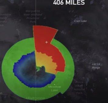 """O anomalie uriașă (700-800 km), de origine necunoscută, a fost detectată pe radar în Canada - """"nu am văzut niciodată ceva asemănător"""""""