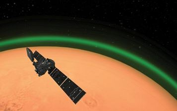 Misterioasa lumină verde observată în atmosfera de pe Marte. De unde îşi are ea originea?