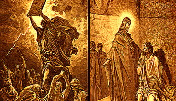 """Au existat două """"Entităţi Superioare"""": un Dumnezeu războinic şi răzbunător (ca în Vechiul Testament) şi un Dumnezeu iubitor (ca în Noul Testament)? Cel puţin aşa spun cainiţii..."""