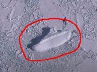 Ce caută o navă uriaşă îngheţată în largul coastei Antarcticii? Descoperire uimitoare făcută cu ajutorul lui Google Earth