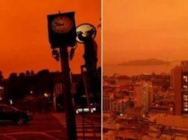 """""""Apocalipsa"""" roşie din California: locuitorii din San Francisco s-au trezit ziua cu o atmosferă portocalie, misterioasă şi întunecată! Despre ce-a fost vorba?"""