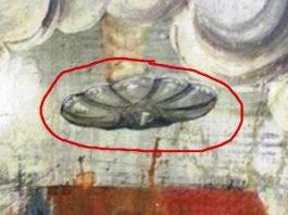 În oraşul natal al lui Vlad Ţepeş (Sighişoara) se află pictat într-o biserică veche un obiect zburător extraterestru?