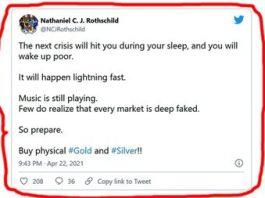 """Mesajul criptic de pe Twitter al unui membru de vază al familiei Rothschild: """"Următoarea criză vă va lovi în timp ce dormiţi!"""" Despre ce e vorba?"""